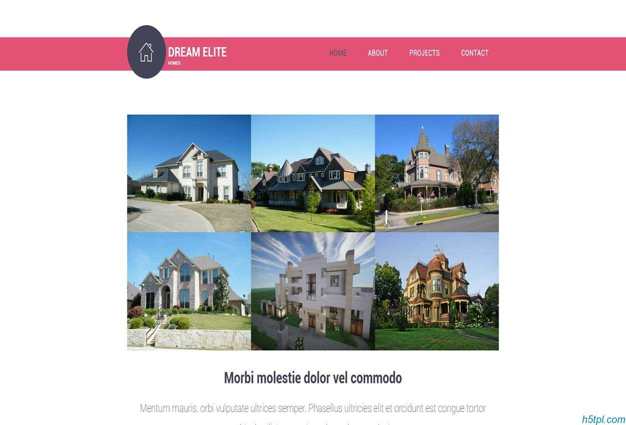 国外别墅房产企业网站模板是一款适合房产开发公司网站模板