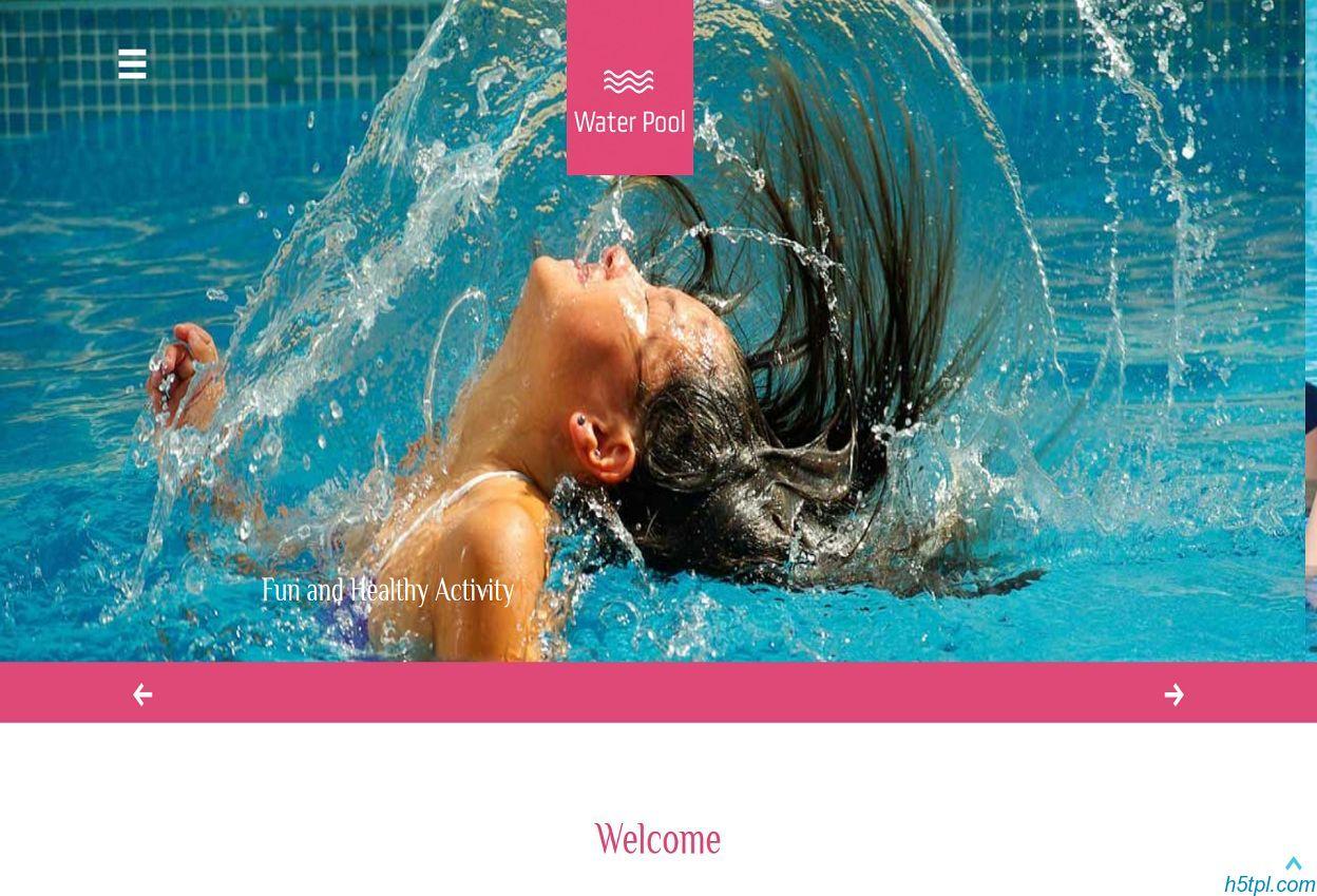 儿童水上乐园游泳馆企业模板