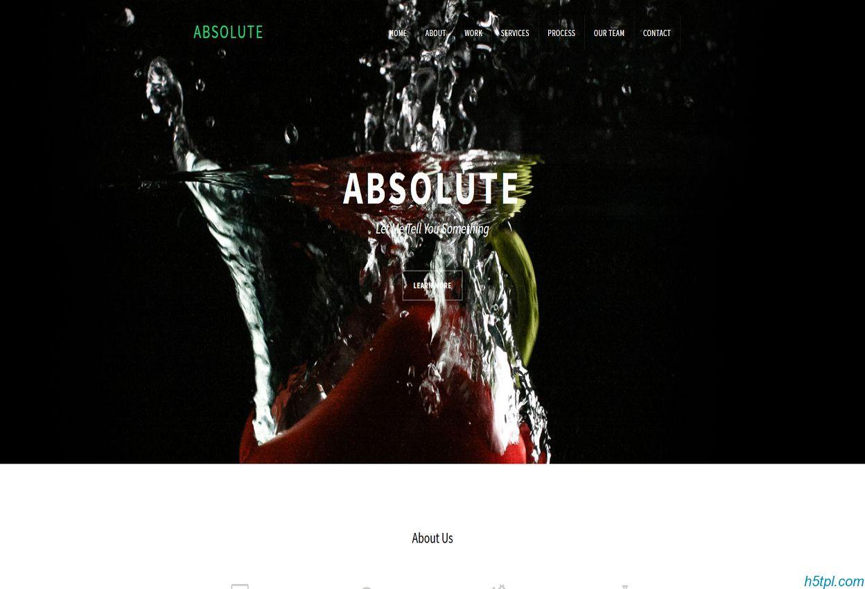 黑色简洁单页page公司网站模板