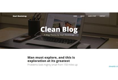 极简个人博客主页模板_blog模板