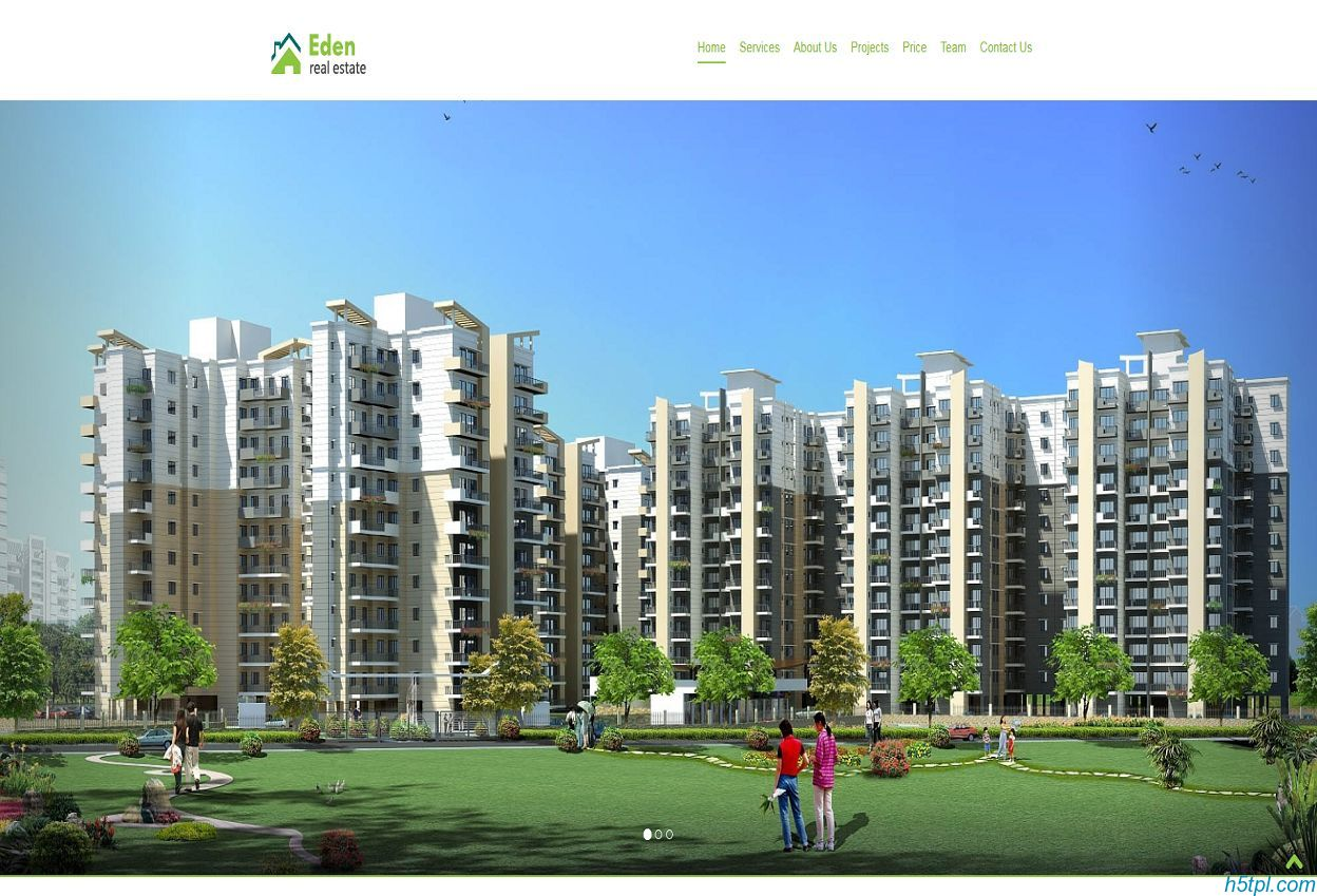 房地产规划设计培训网站模板是一款单页模板,适合房地产企业网站模板