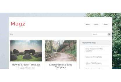 灰色bootstarp模板适合做个人主页的简洁响应式HTML5博客模板