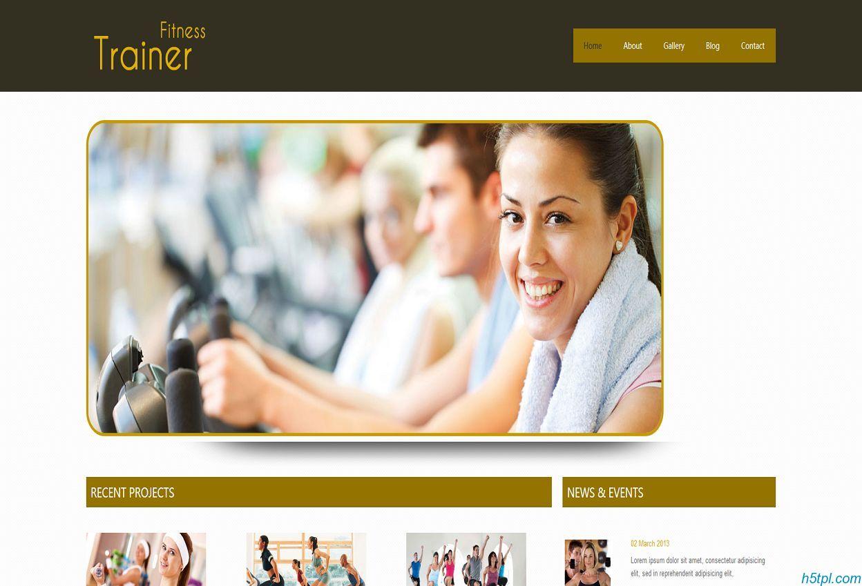 健身会所HTML棕色模板是一款棕色风格的HTML健身俱乐部网站模板