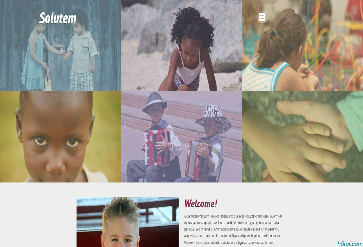 儿童慈善机构网站模板是一款适合慈善公益类HTML网站模板下载