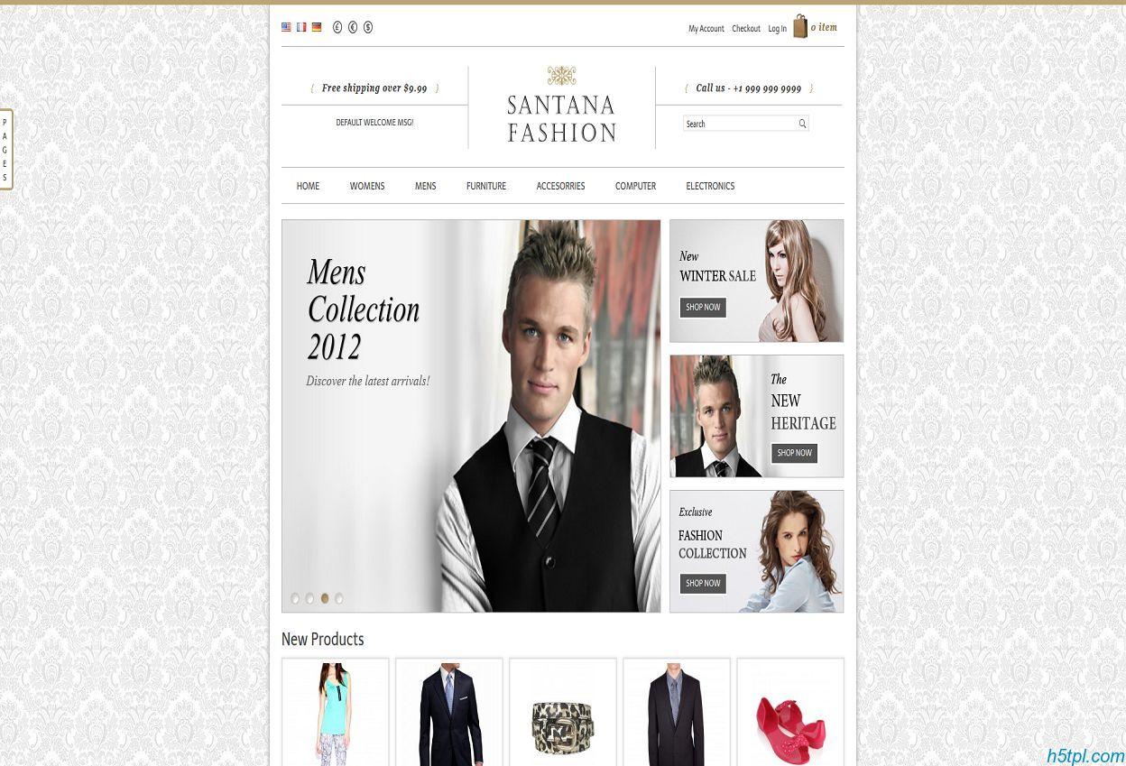 服装箱包销售网站模板是一款服装销售企业的html网站模板