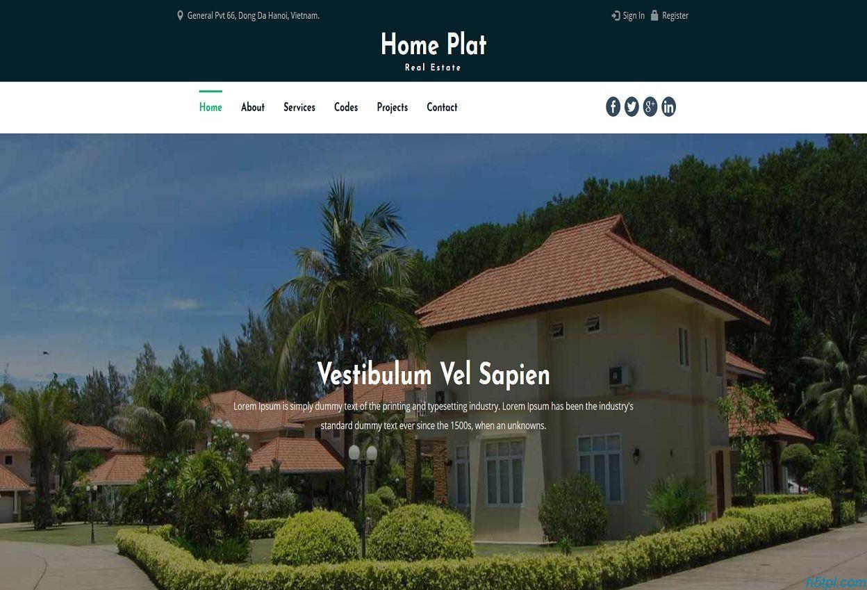 房产经纪公司网页模板下载里面包含6个子页面,适合房地产企业整站模板