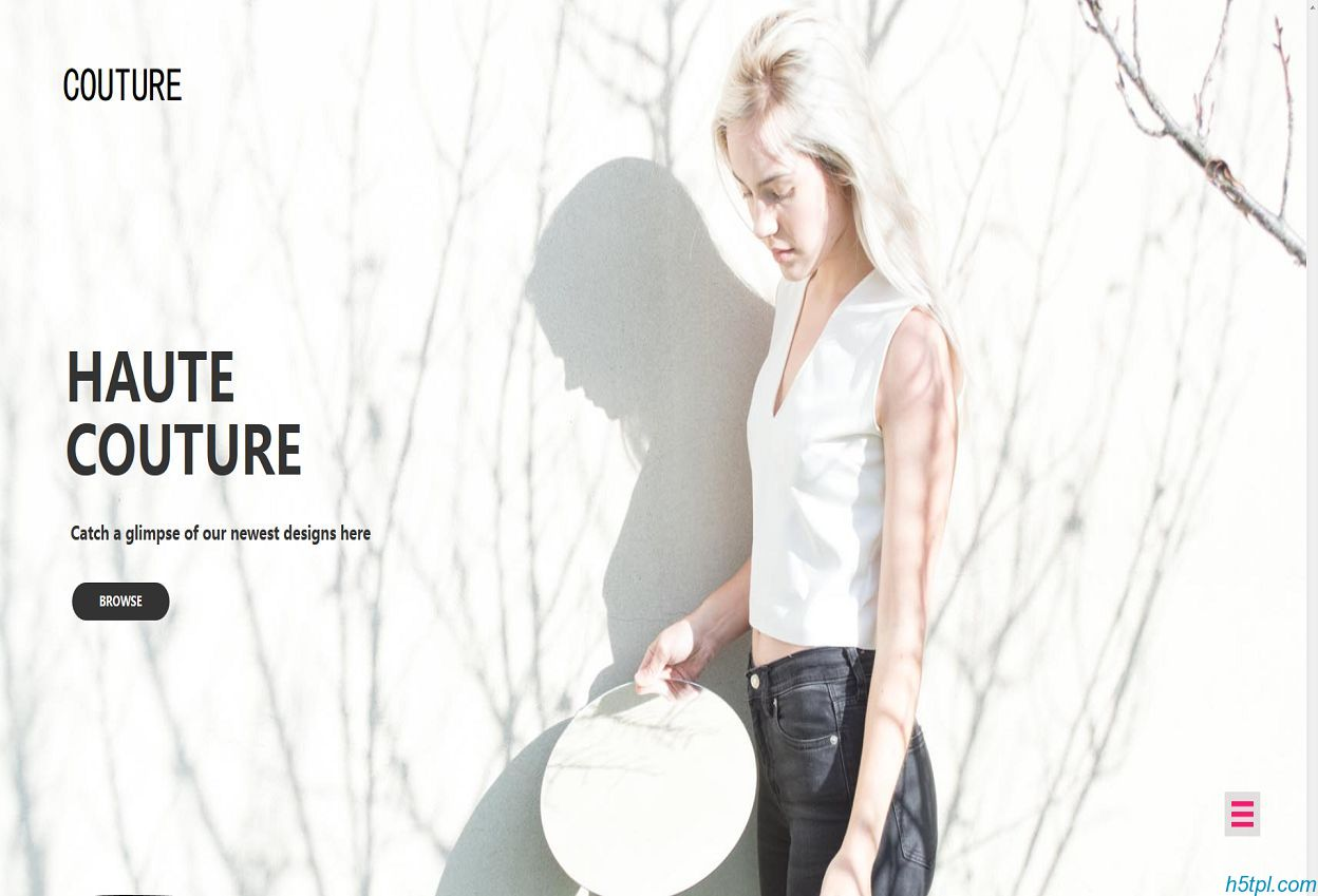 巴黎春夏时装秀网站模板是一款HTML5时装时尚类网站模板