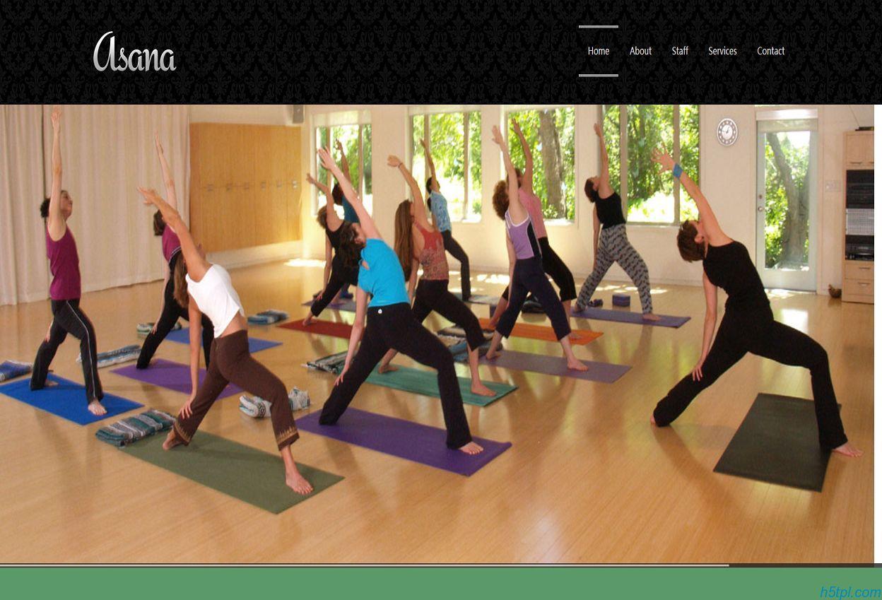 瑜伽减肥CSS网站模板是一款适合健身会所网站的CSS模板下载