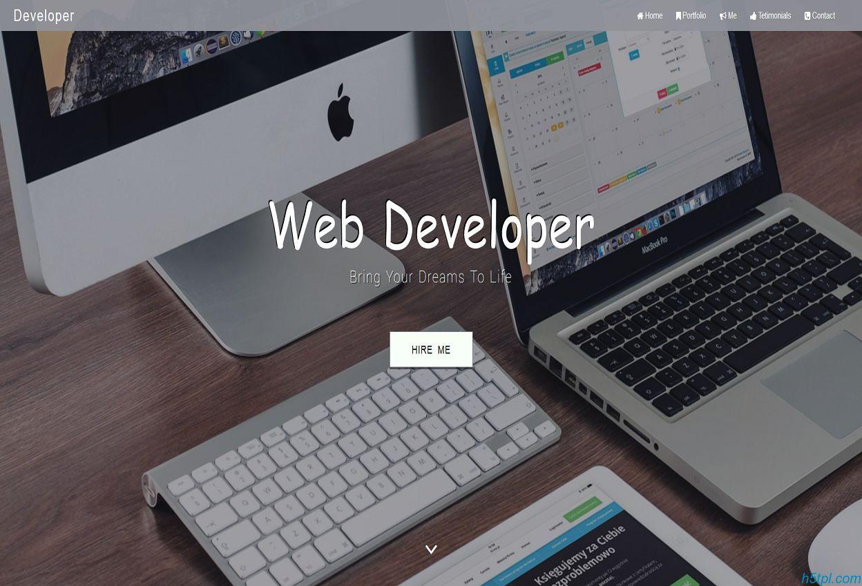 Developer技术开发者作品展示官网模板