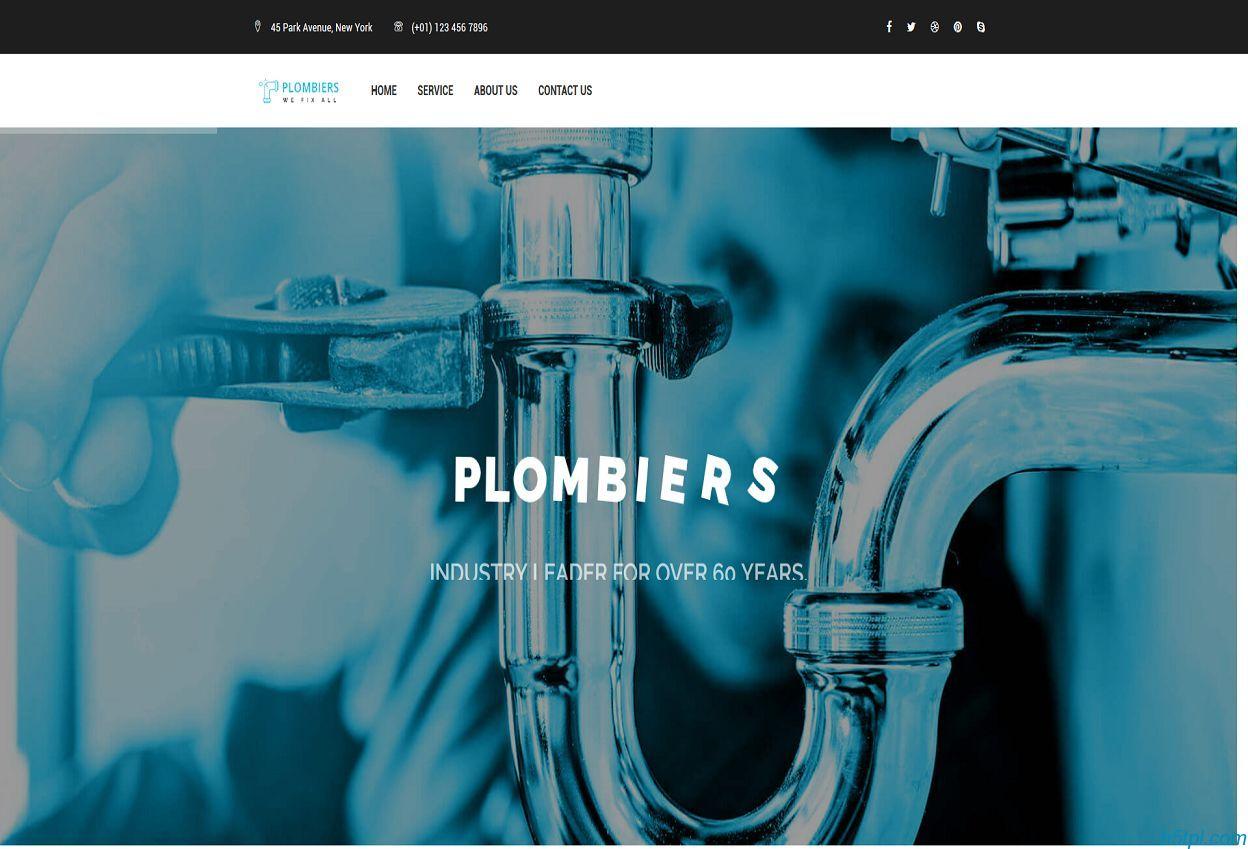 管道疏通公司HTML5模板是一款响应式管道疏通维修服务公司网站模板