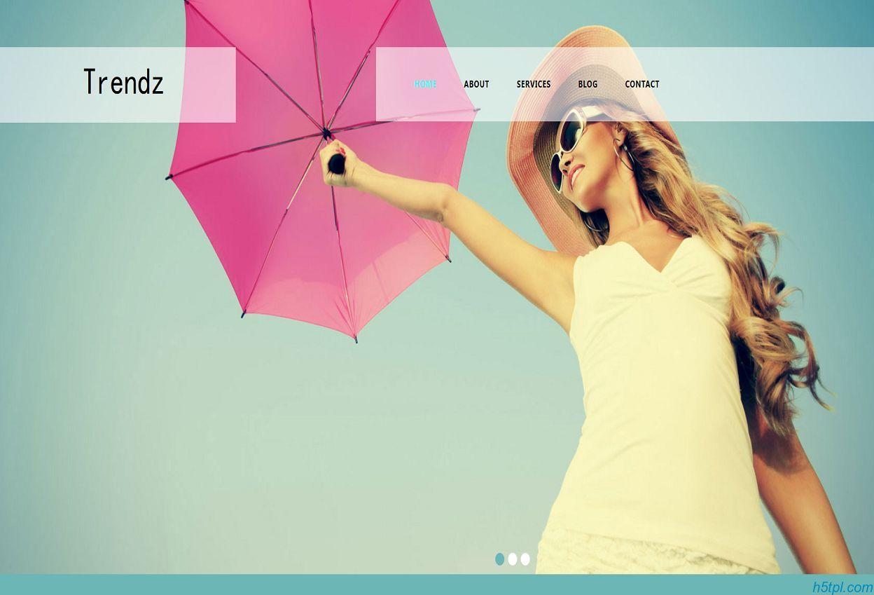 模特时装秀走秀公司模板是一款欧美风格的HTML模特公司网站模板