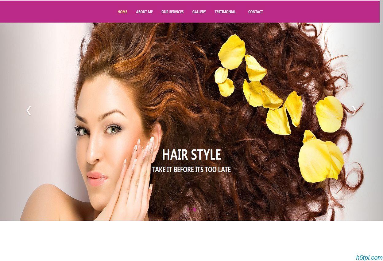 美容美发会所网站模板是一款适合美容美体按摩行业养生会所模板素材