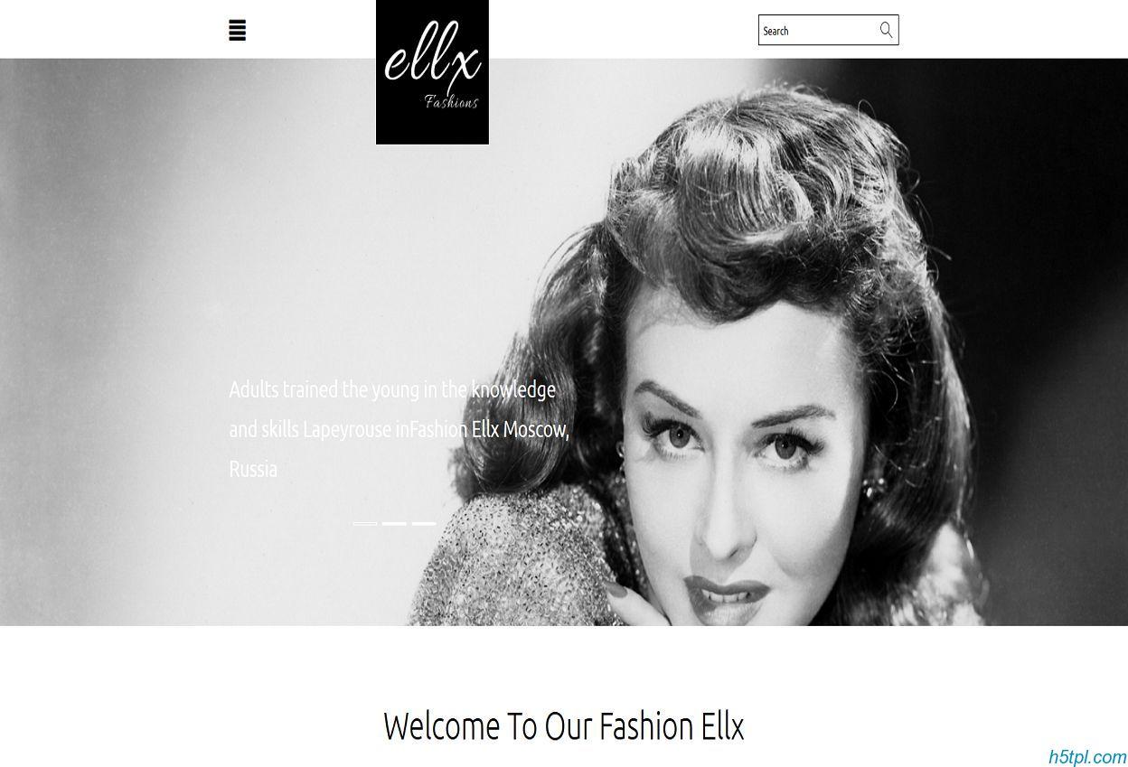 黑白设计时尚服装设计师企业模板