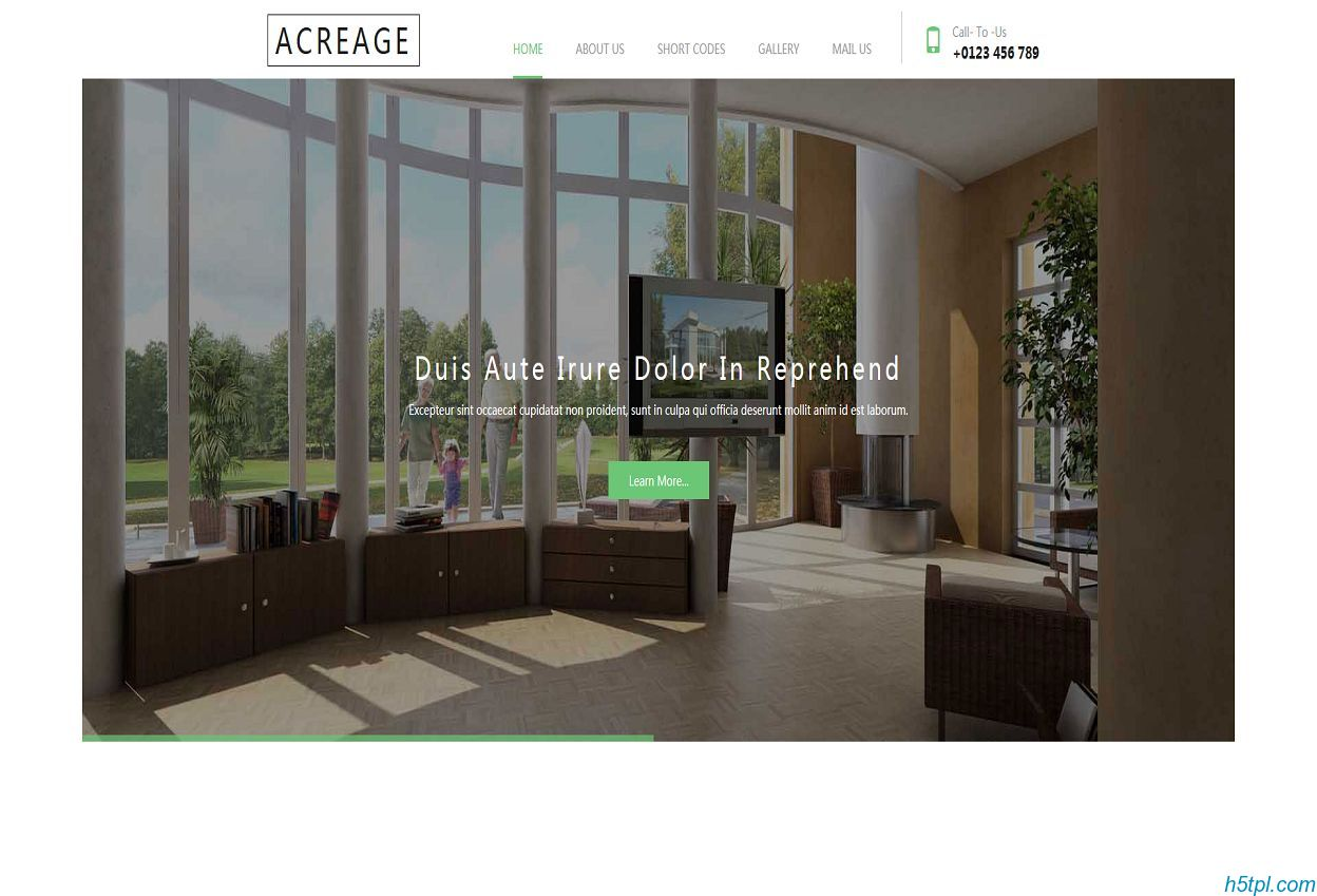 房地产经纪公司网站模板是一款适合新房二手房房源公司网站模板