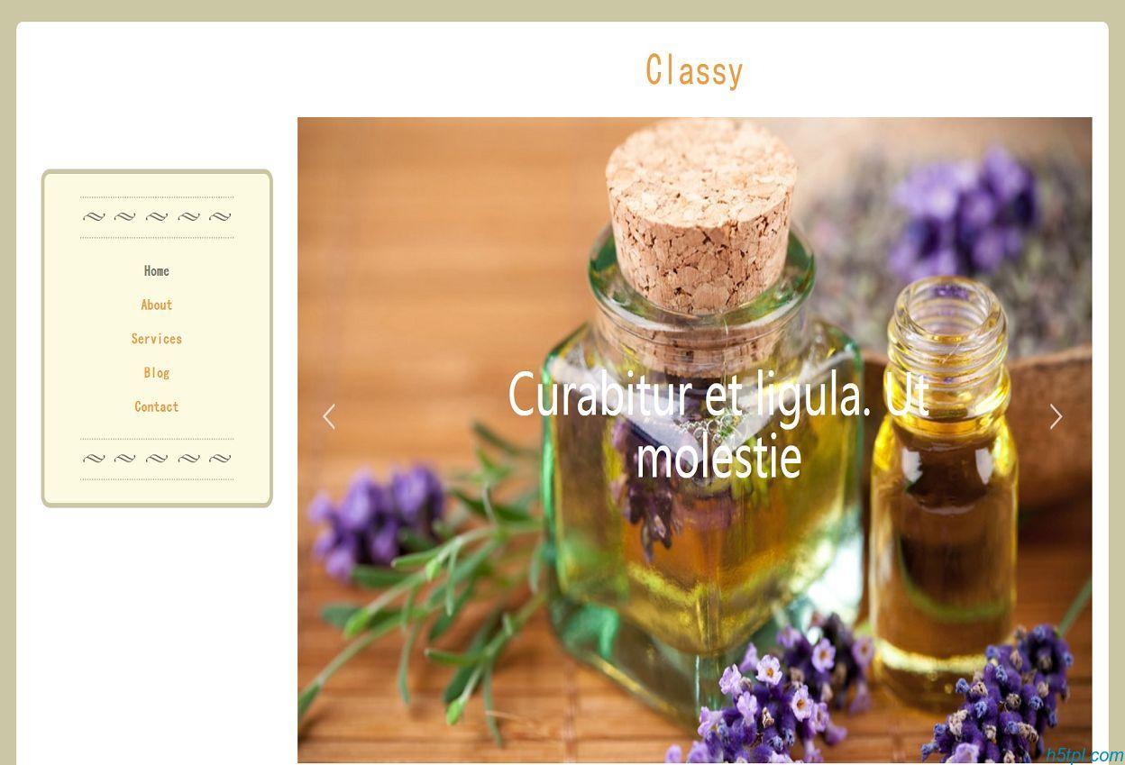 中医养生拔罐刮痧网站模板是一款棕色大气风格的HTML5养生会所网站模板