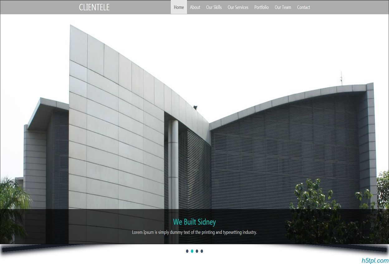 商务写字楼房产网站模板是一款适合房地产相关企业网站模板