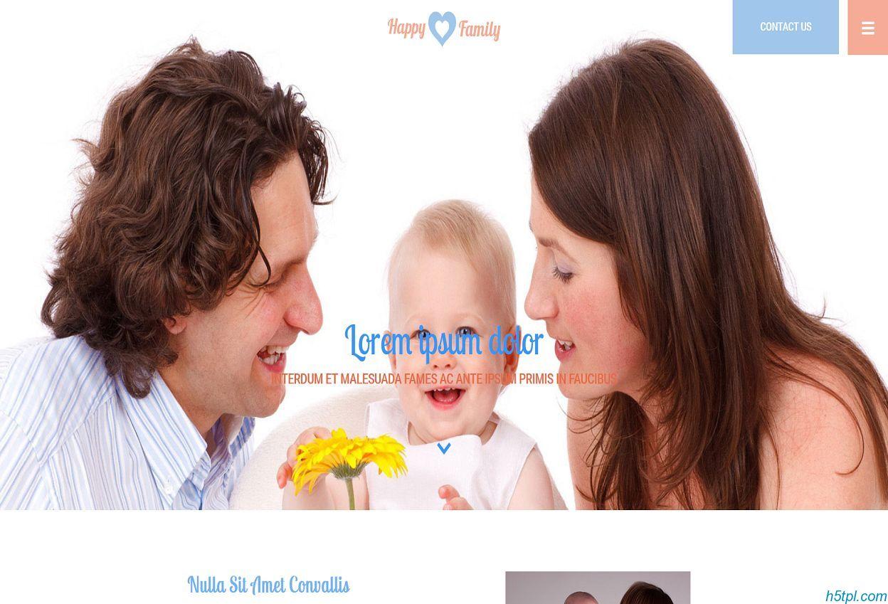 母婴用品行业网站模板是一款适合母婴包包服务类网页模板