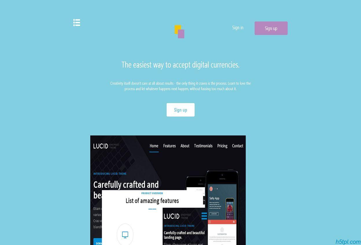 互联网创意app应用软件官网html5模板