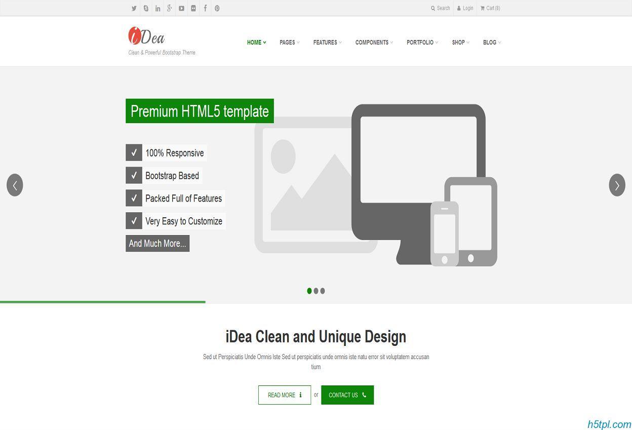 互联网企业bootstrap模板是一款基于HTML5实现的响应式互联网公司网站模板
