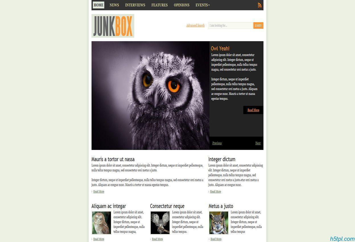 宠物鸟类网站css模板_宠物_鸟类_专题_简单_浅绿色