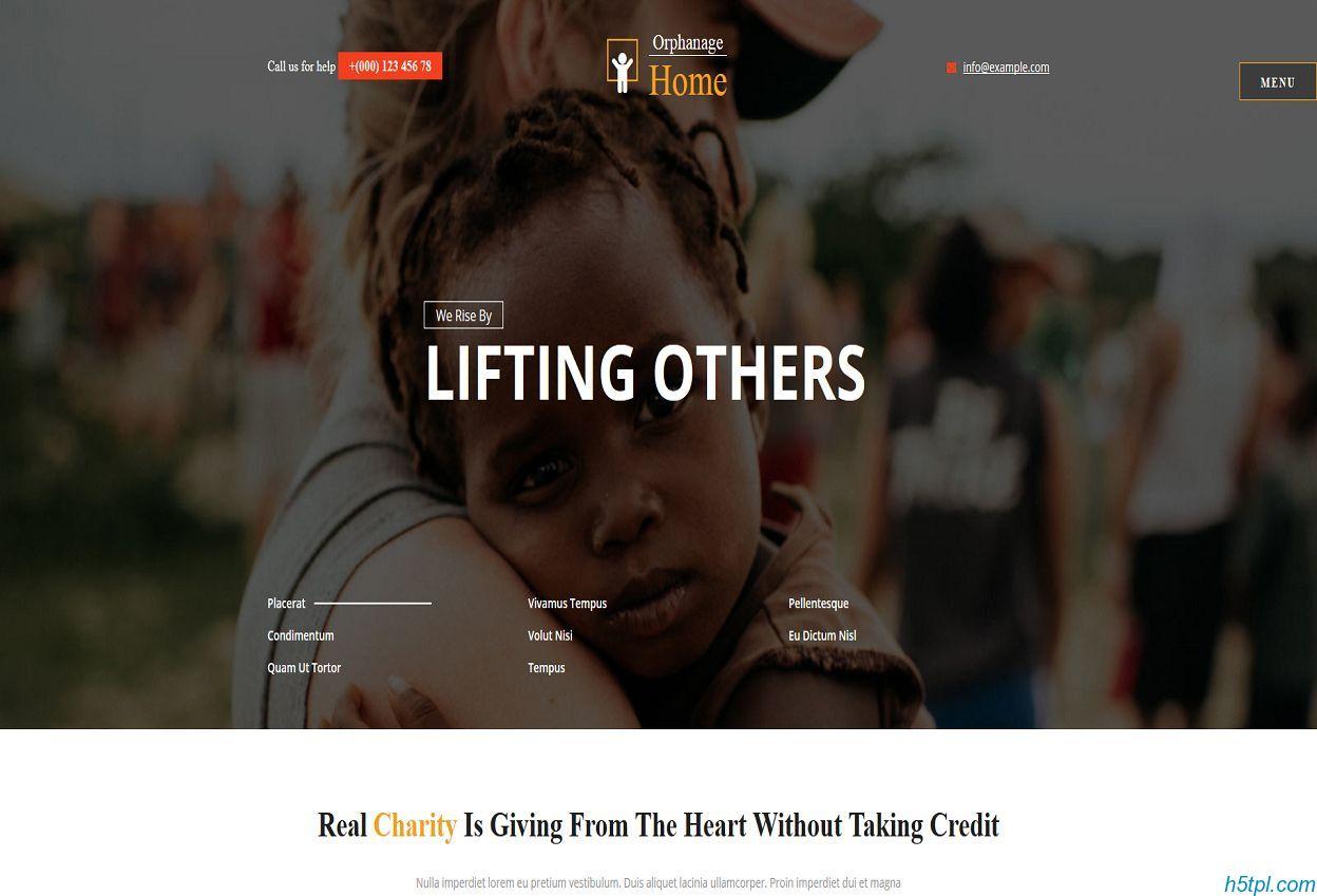 孤儿院慈善网站模板是一款非洲儿童公益网站模板