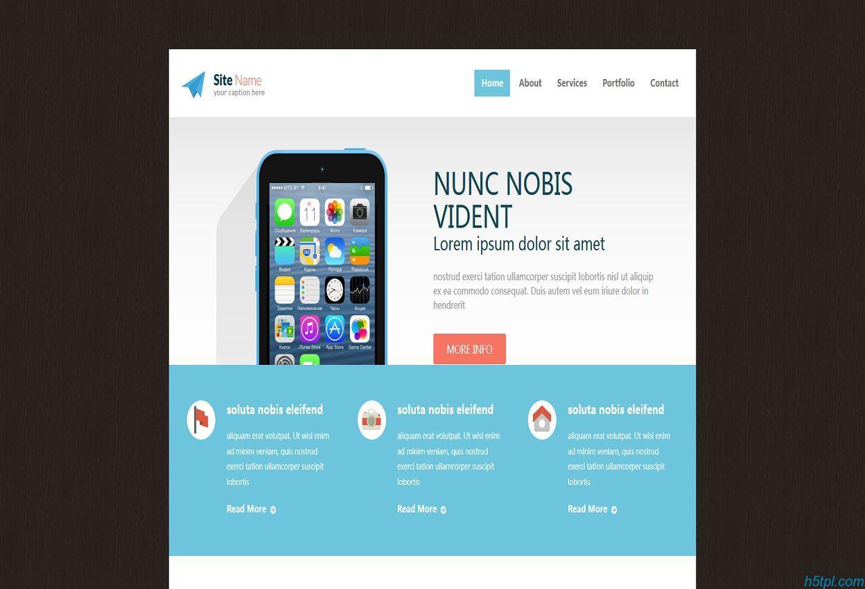 漂亮扁平化手机APP应用官网整站模板