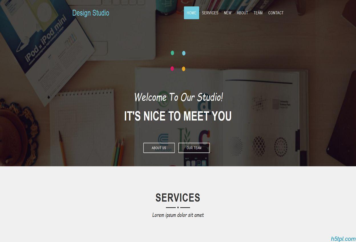 Design UI设计师项目展示官网模板