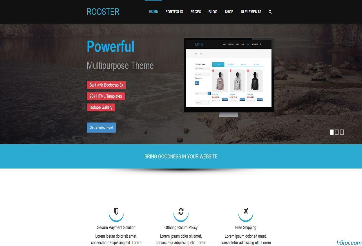 国外服装企业Bootstrap模板是一款适合企业展示的响应式网站模板