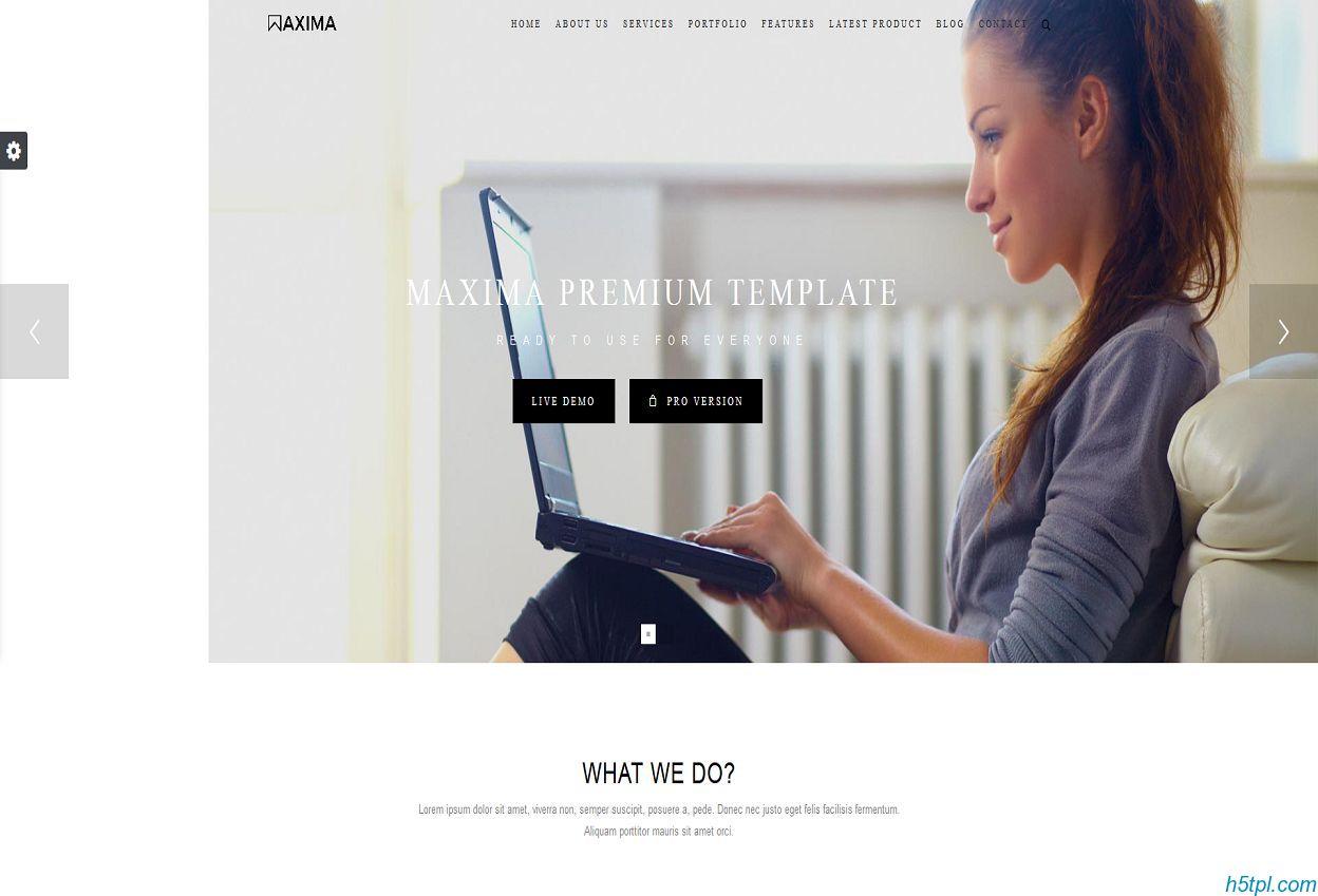 服装设计项目展示网站模板是一款大气动画效果不错的CSS3服装设计企业网站模板