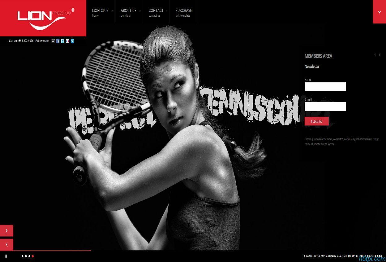 健身俱乐部HTML网站模板是一款适合健身会所的HTML黑色高端模板