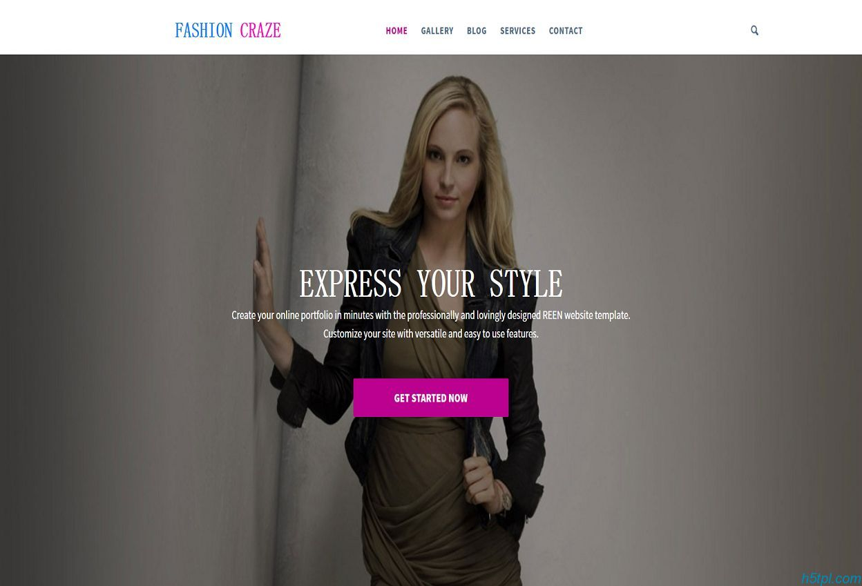 模特服装展企业网站模板是一款黑色整洁的服装新品展示网页模板