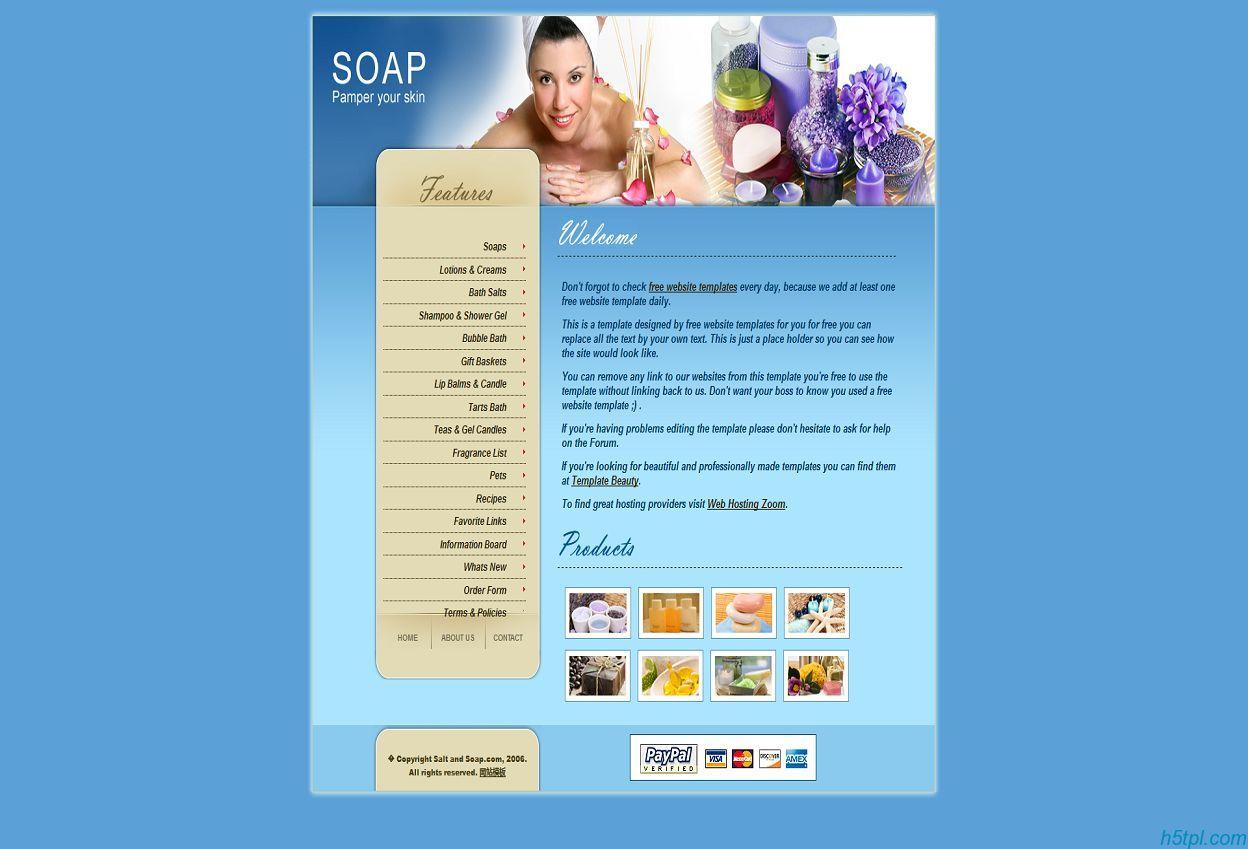 蓝色魅惑SPA女性美容企业网站