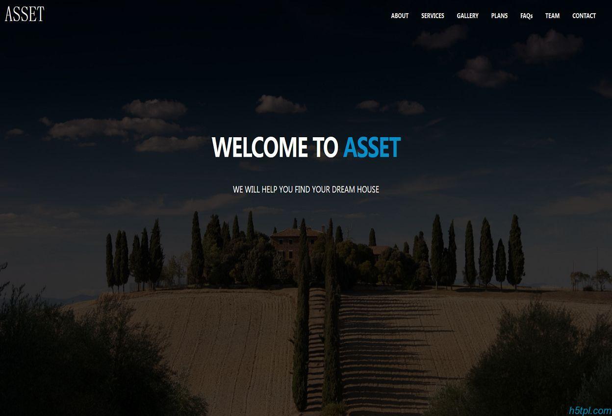 房地产开发公司网站模板是一款大气好看的房地产相关网站模板