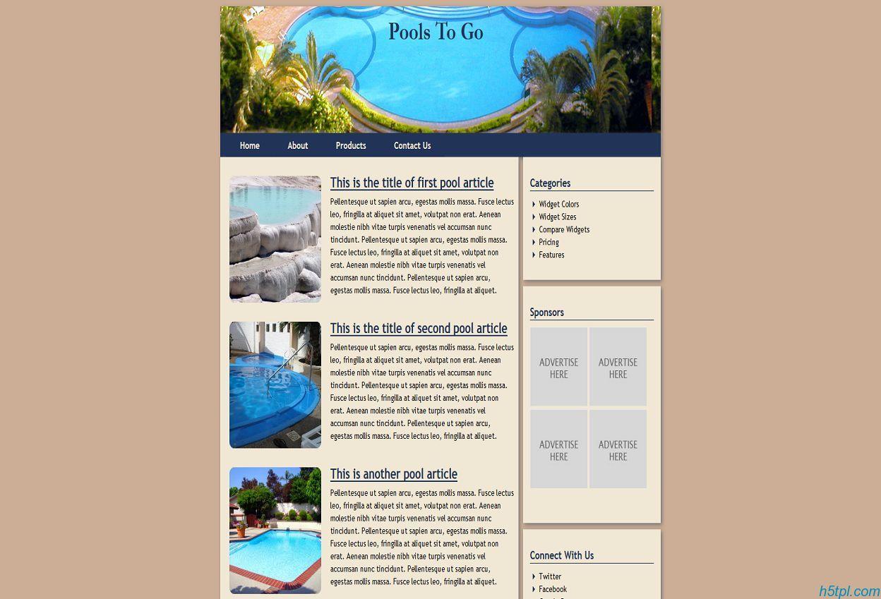 家政园林网站模板_家政_园林_html_标准