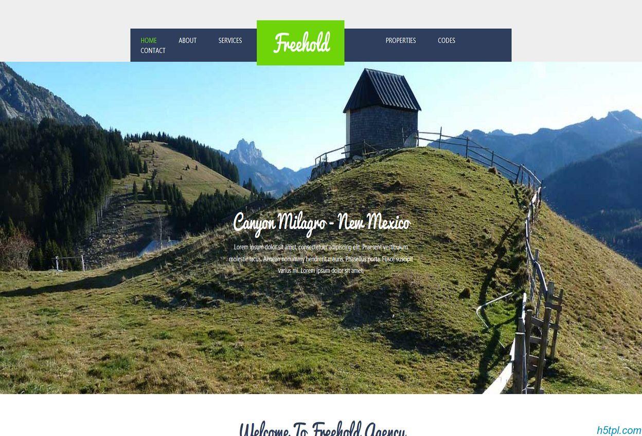 房地产地皮公司网站模板是一款扁平整洁大气风格的房地产开发商网站模板