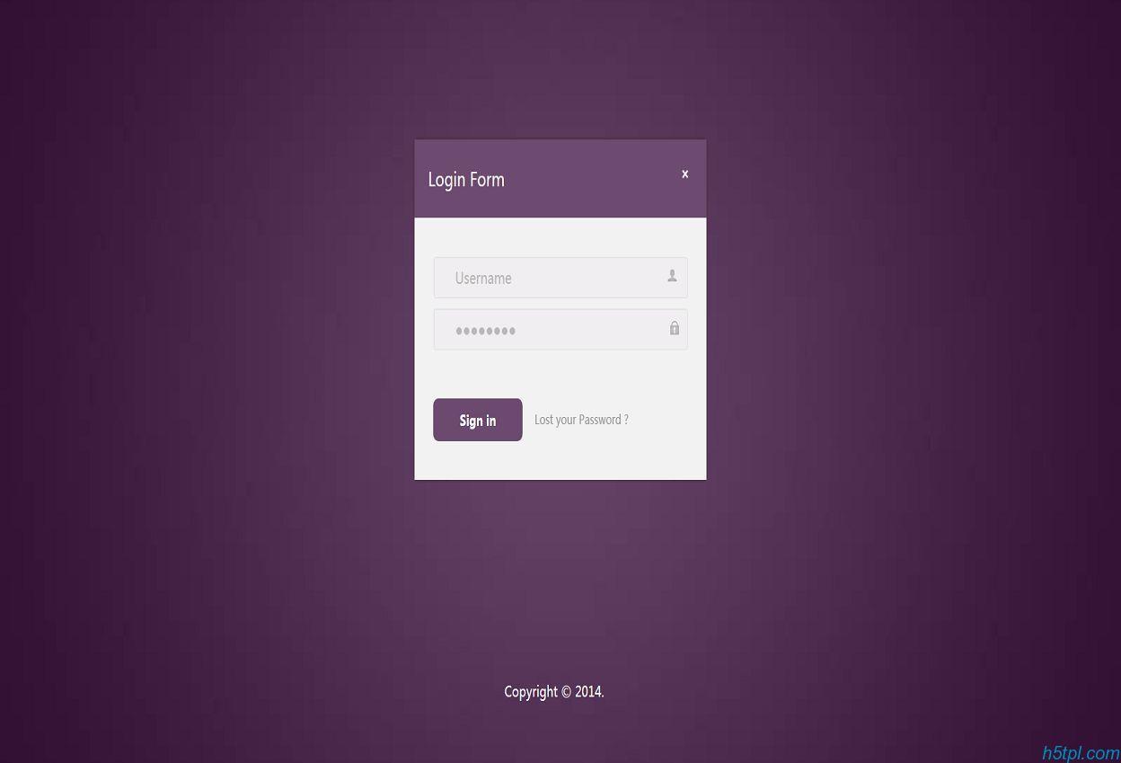 紫色网站登录页面模板是一款简洁风格登录页面,适合前台会员登录或者后台管理登录页面模板。