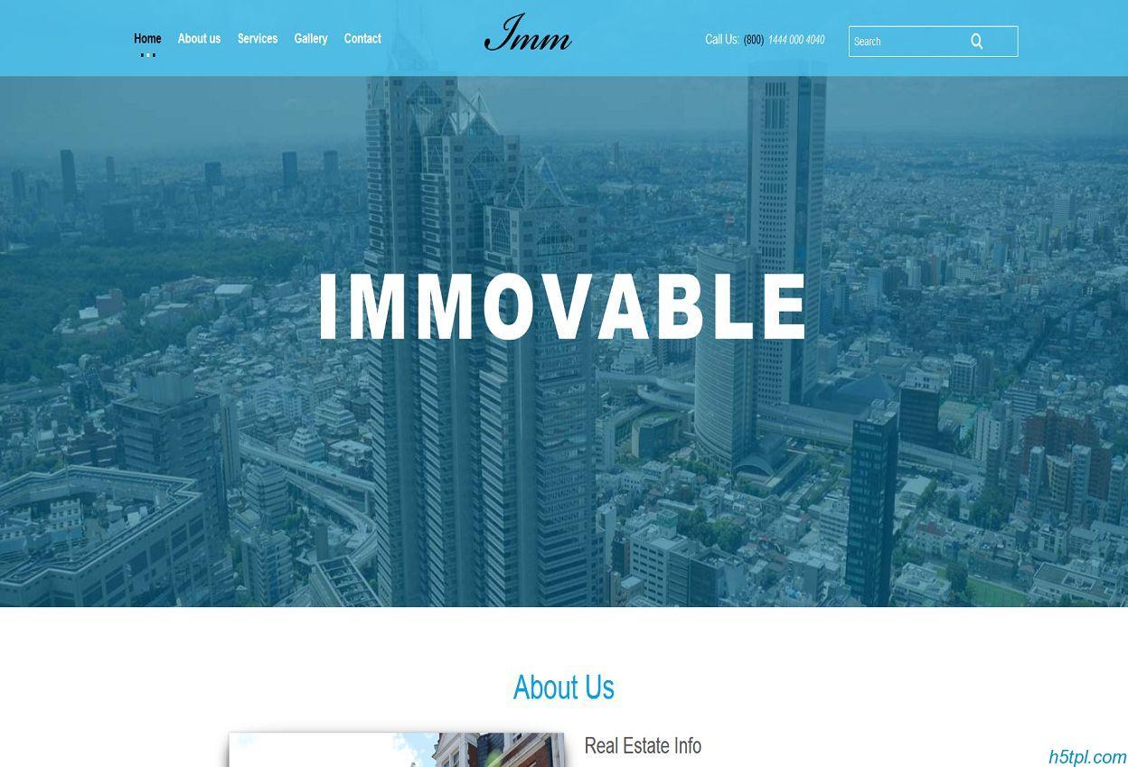 房地产公司网站模板是一款单页html5房产公司网站模板