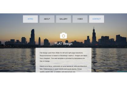 CSS3仿Flash动画个人博客模板免费模板