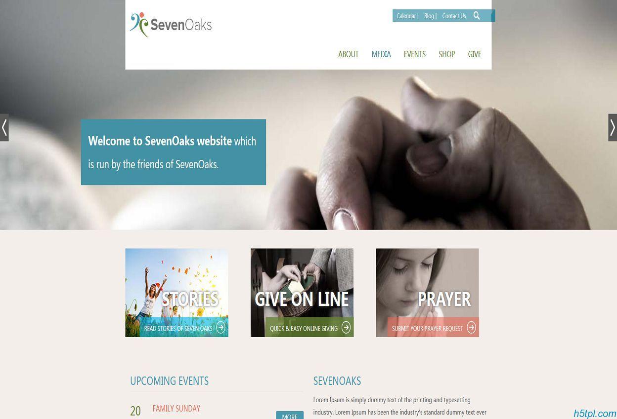 十指紧握公益网站模板是一款简洁风格的公益类网站模板下载
