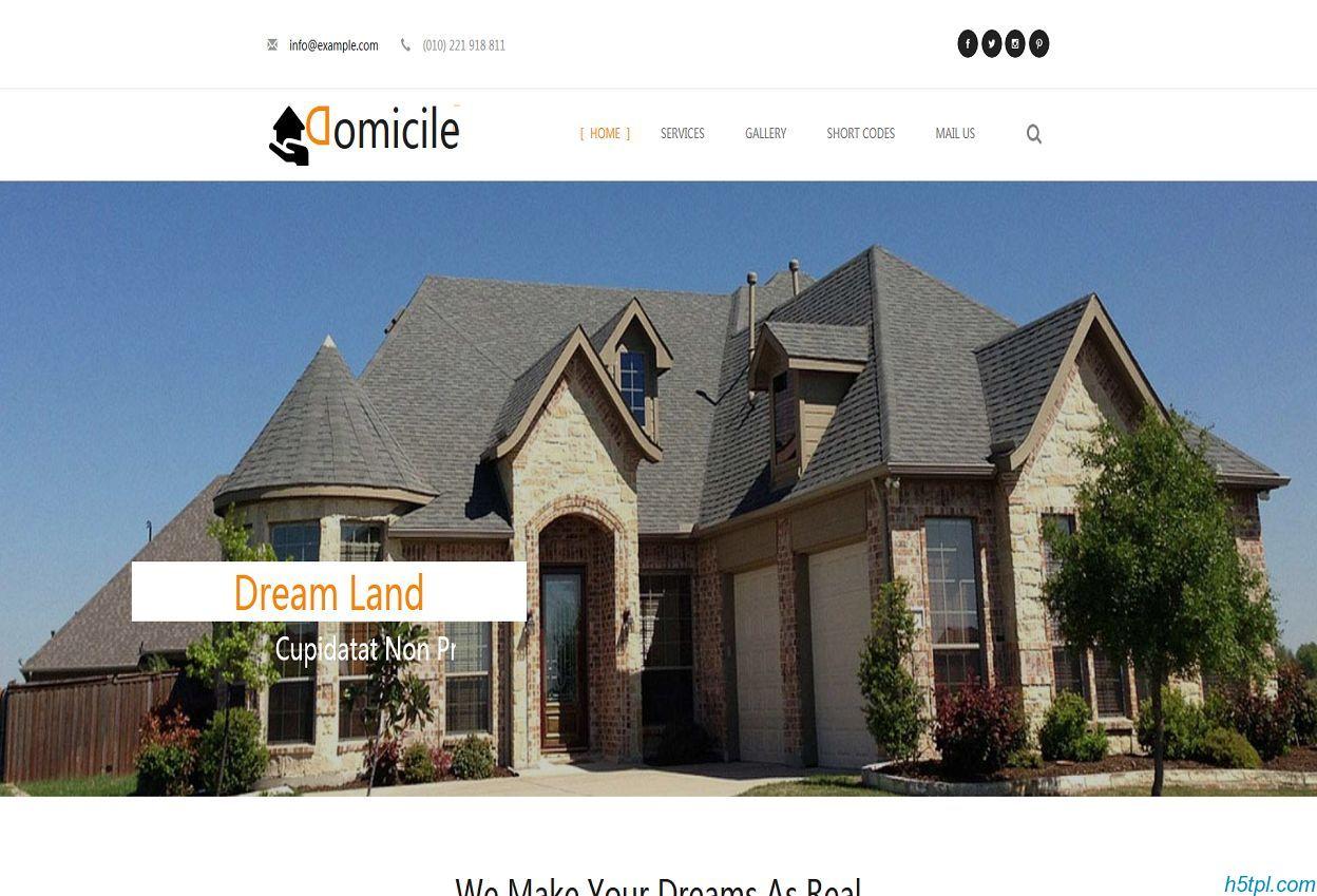 别墅房地产评估公司模板是一款白色简洁的房地产相关网站模板