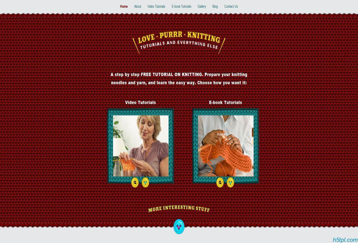 可爱的毛衣背景服装网站模板