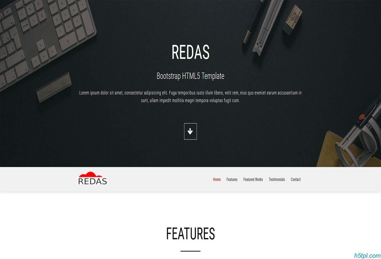UI前端设计公司Bootstrap HTML5 模板下载