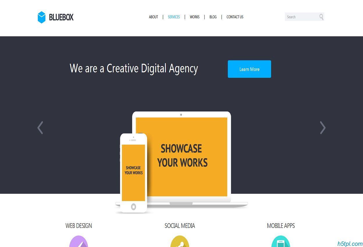 Bluebox网页制作建站公司企业官网模板