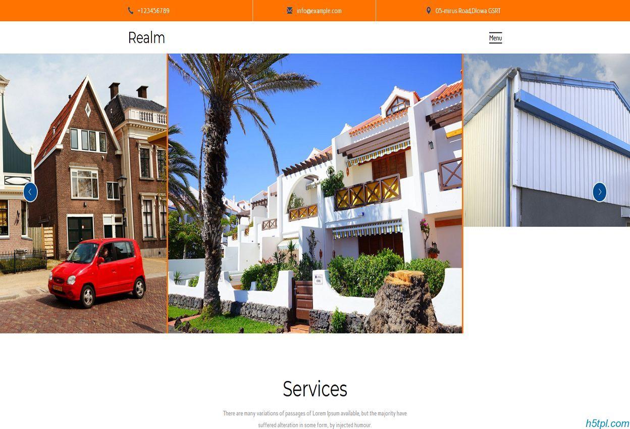 地产集团网站模板是一款大气精美的房地产行业网站模板