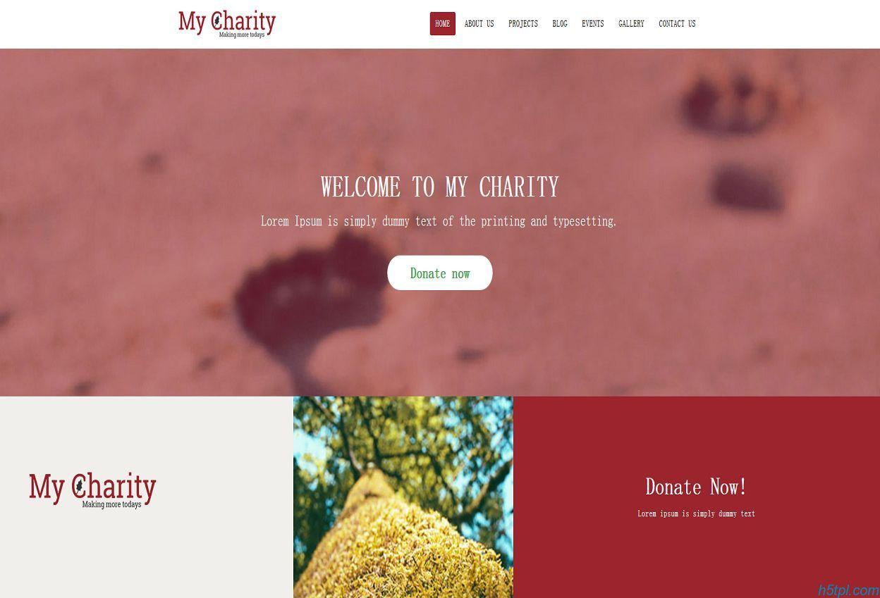 慈善机构HTML网站模板是一款公益慈善机构网站模板下载