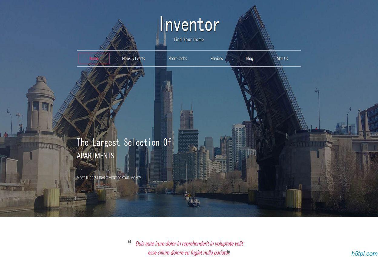 商业地产服务公司网站模板是一款HTML5模板,适合跟房地产相关模板素材
