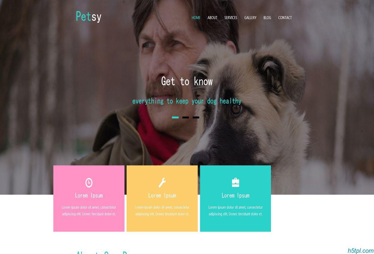 宠物狗养殖企业模板是一款HTML5模板,适合动物宠物爱好者网站模板