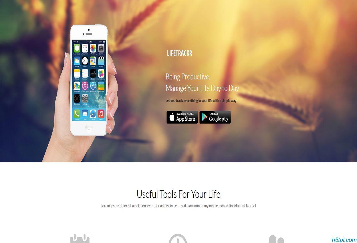 iPhone手机应用软件模板是一款适合手机客户端开发企业网站模板