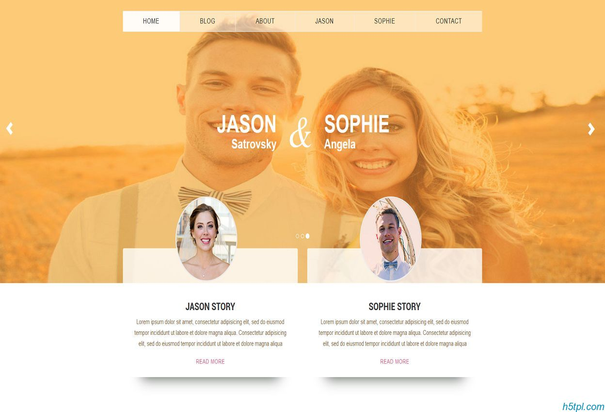 wedding情侣结婚贴个性网页模板