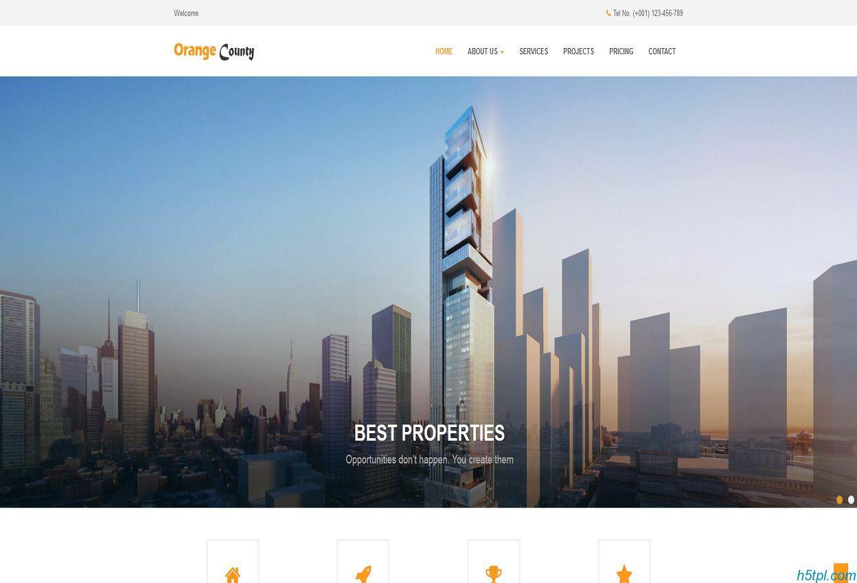 房地产新楼盘门户网站模板是一款中国房地产家居门户信息网站模板